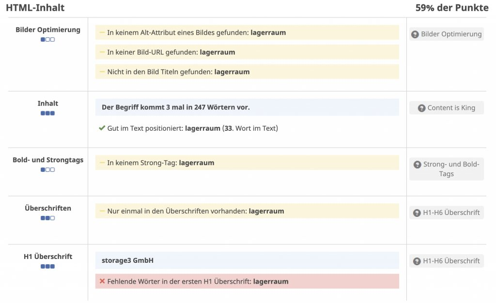 HTML-Inhalt